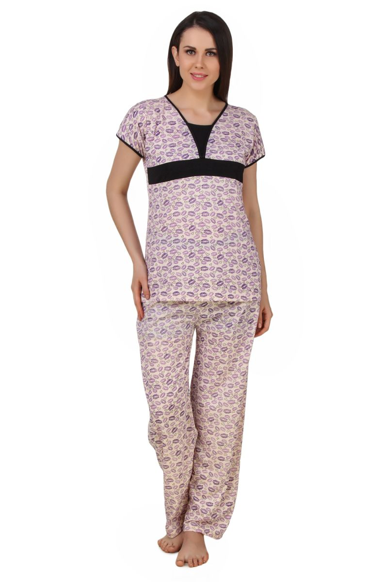 Buy Fasense Exclusive Women Cotton Nightwear Nightsuit Top & Pyjama Set, online