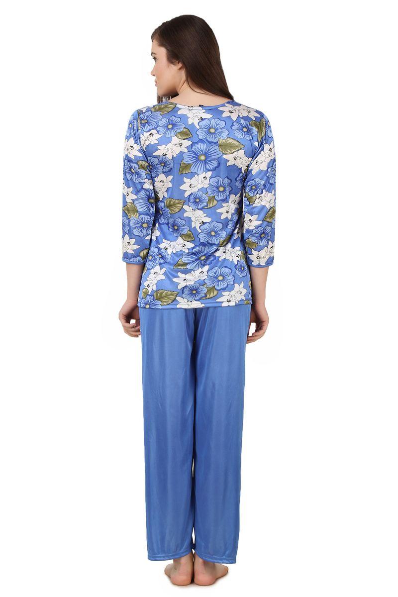 efcab21132 Buy Fasense Women Satin Nightwear Nightsuit Top   Pyjama Set