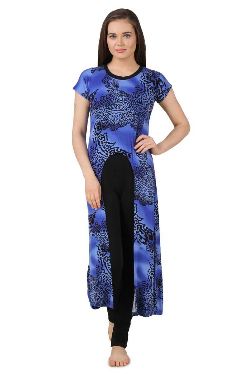 Buy Fasense Exclusive Women Nightwear Nightsuit Long Top & Pyjama Set Fa056 C online
