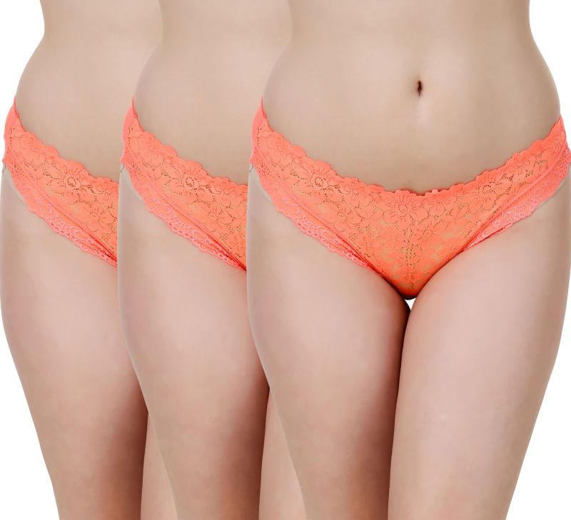Buy Fasense Women'S Solid Orange Set Of 3 Hipster Panties online
