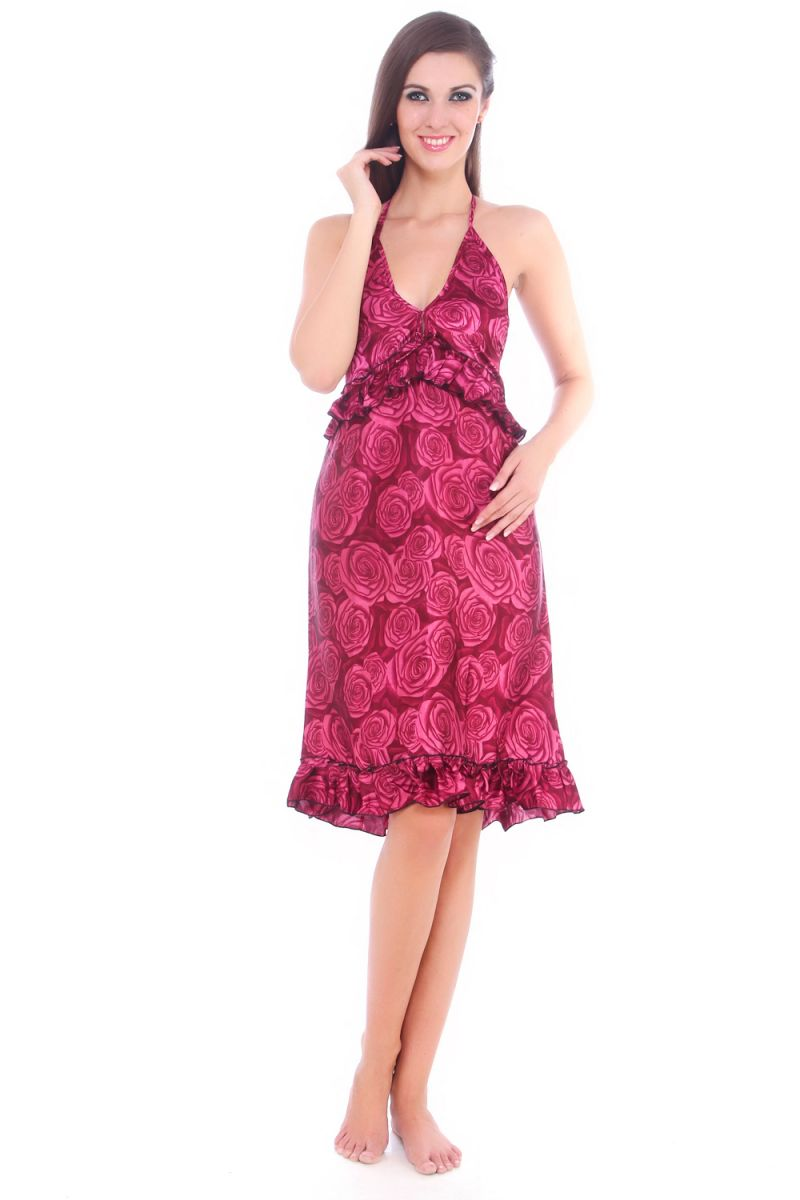 c4ef430c77 ... Buy Fasense Women Stylish Satin Nightwear Sleepwear Short Slip Nighty  Sd001 B online official photos 2866a ...