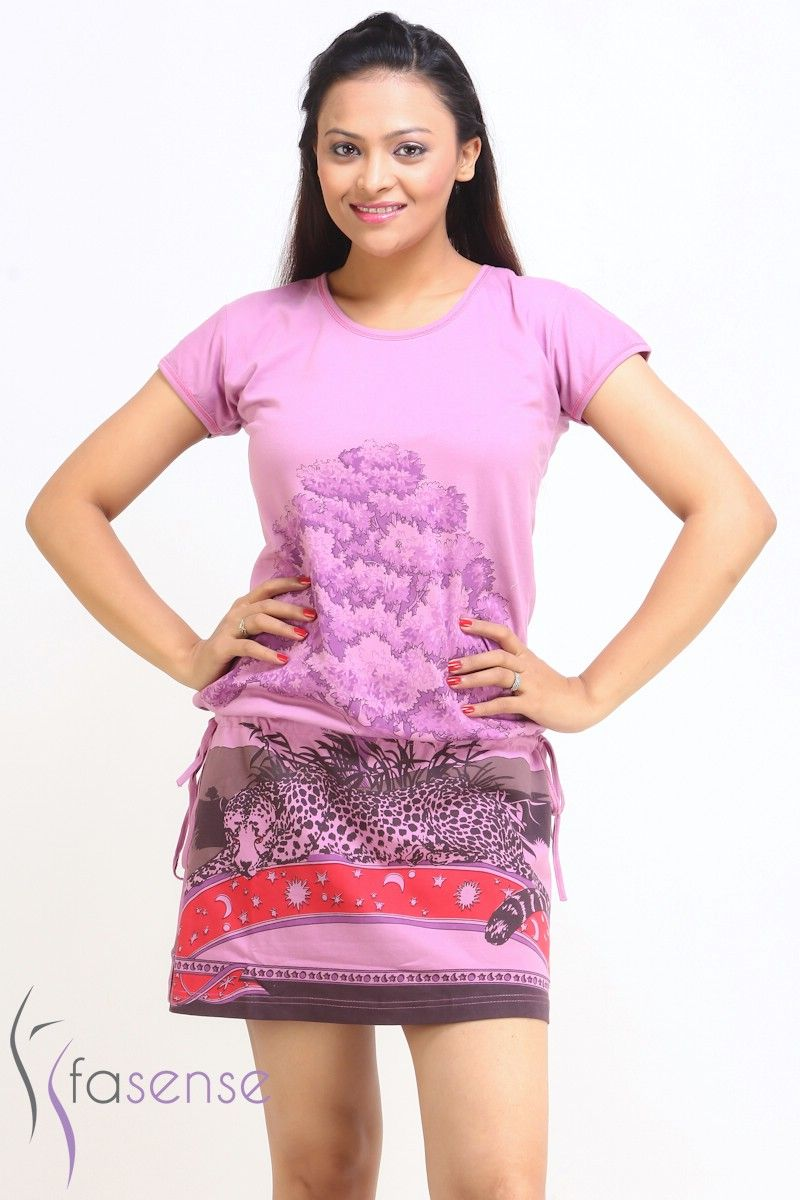 Buy Fasense Women Pink Designer Cotton Short Nighty Online  d05b28e33aaf