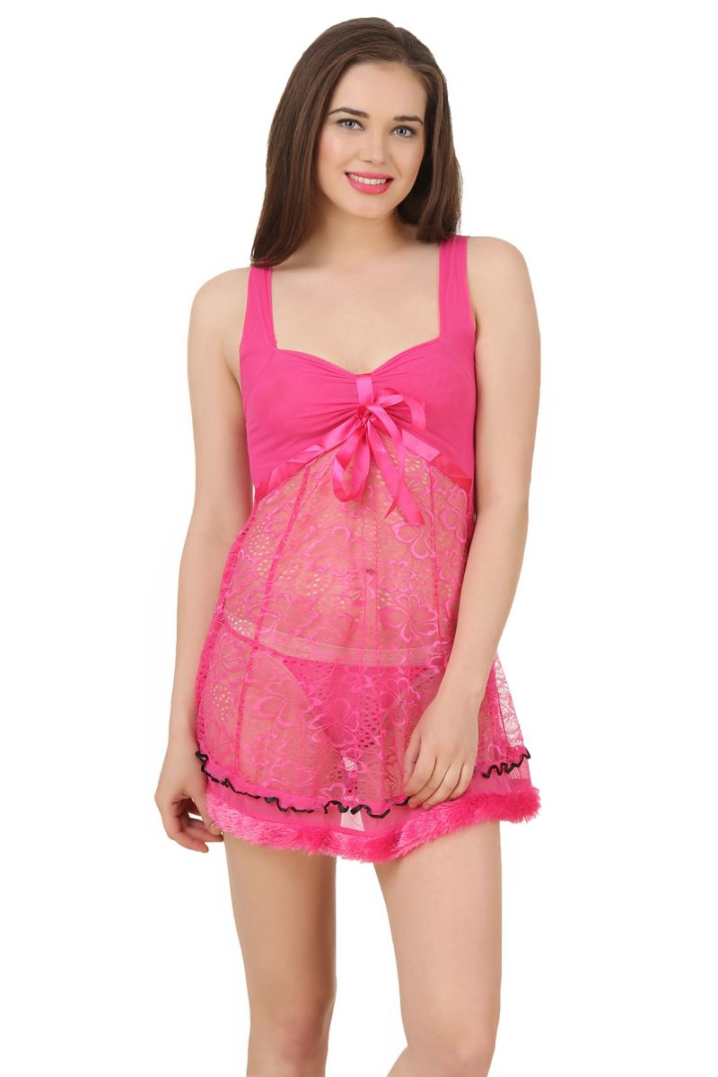 Buy Fasense Exclusive Women Nightwear Sexy Baby Doll Slip Ss079 C online