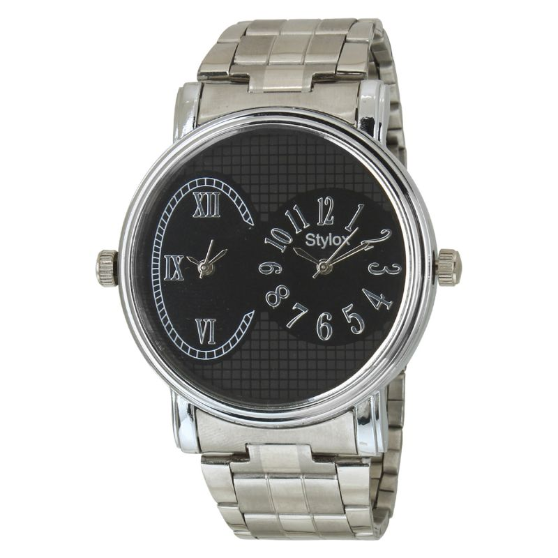 Buy Stylox Black Dial Chain Analog Watch - For Men online
