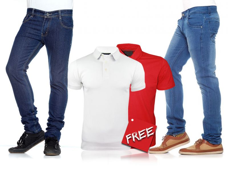 f9e82525 Buy Stylox Denim & T-shirts Buy 2 Get 2 Free Online | Best Prices in ...