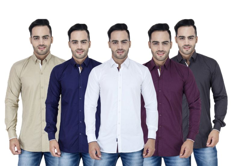 Buy Stylox Set Of 5 Cotton Shirts online
