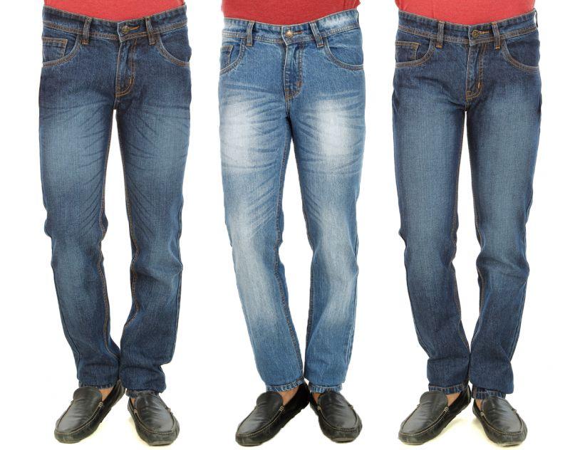 Buy Stylox Mens Set Of 3 Regukar Fit Denim - ( Product Code - Dn-6003-5-6-3dnm ) online