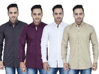 Buy Stylox Set Of 4 Casual Shirt For Men online