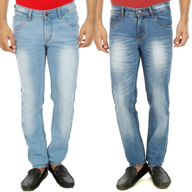 Buy Stylox Mens Set Of 2 Regular Fit Denim - ( Product Code - Dn-6001-3-2dnm ) online