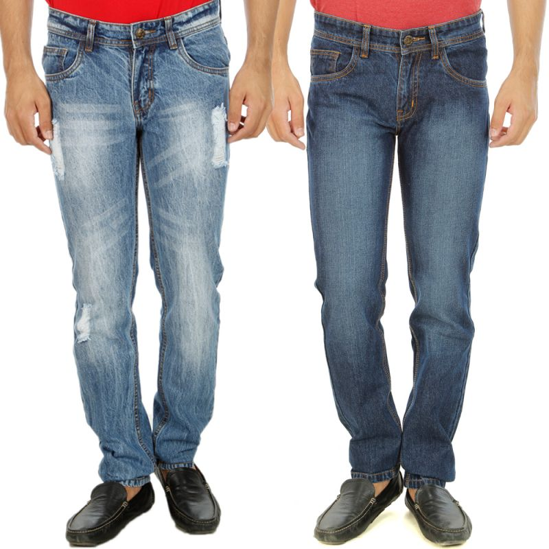 Buy Stylox Mens Set Of 2 Regular Fit Denim - ( Product Code - Dn-6004-6-2dnm ) online