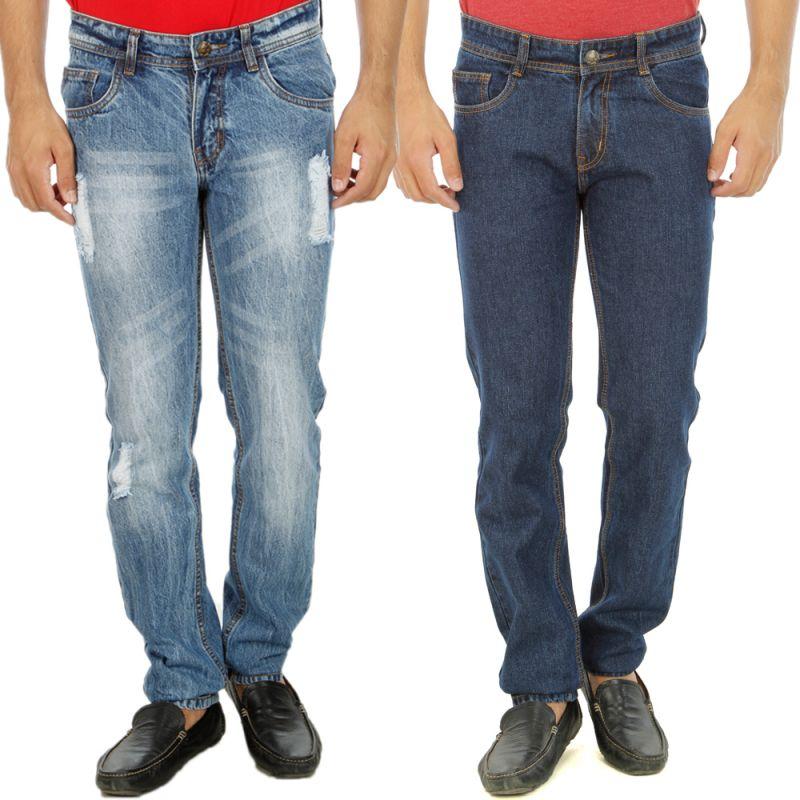 Buy Stylox Mens Set Of 2 Regular Fit Denim - ( Product Code - Dn-6004-8-2dnm ) online