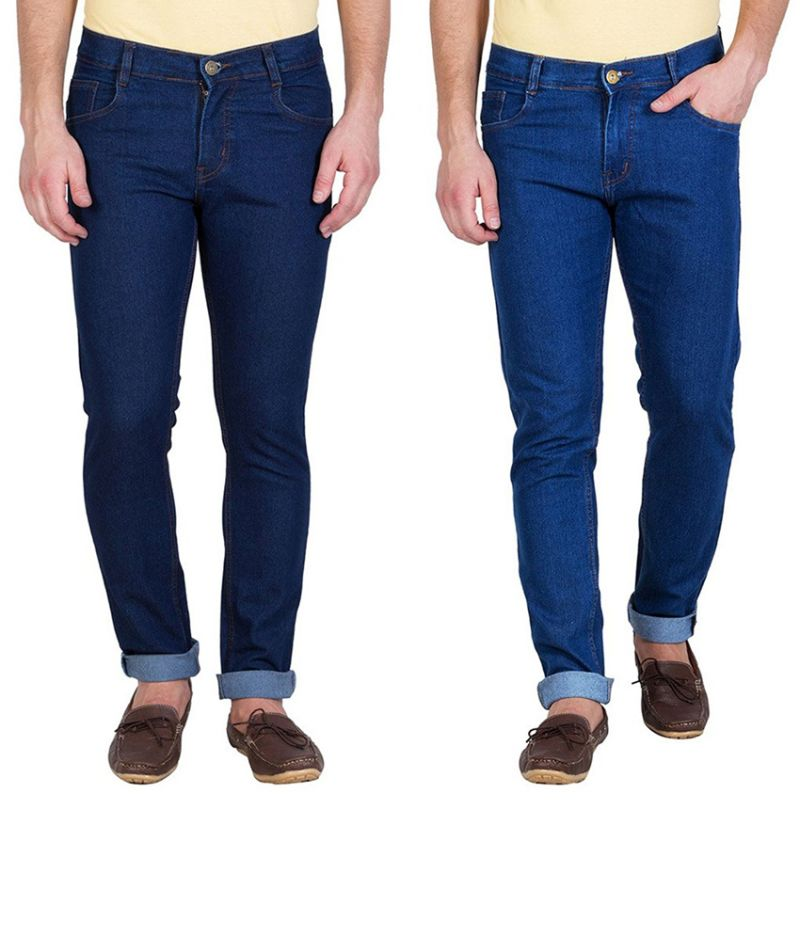 Buy Stylox Pack Of 2 Jeans For Men (product Code - Dnm-1001-2-2dnm) online