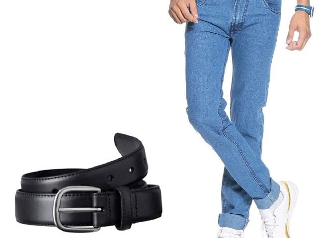 Buy Stylox Light Blue Denim With Belt online