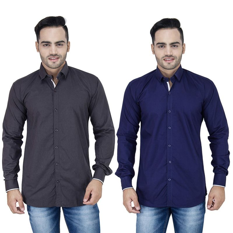 Buy Stylox Set Of 2 Casual Shirt For Men online