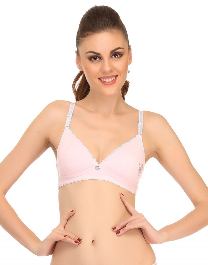 Buy Clovia Lightly Padded Teenage Bra In Pink Bb0002p22 online