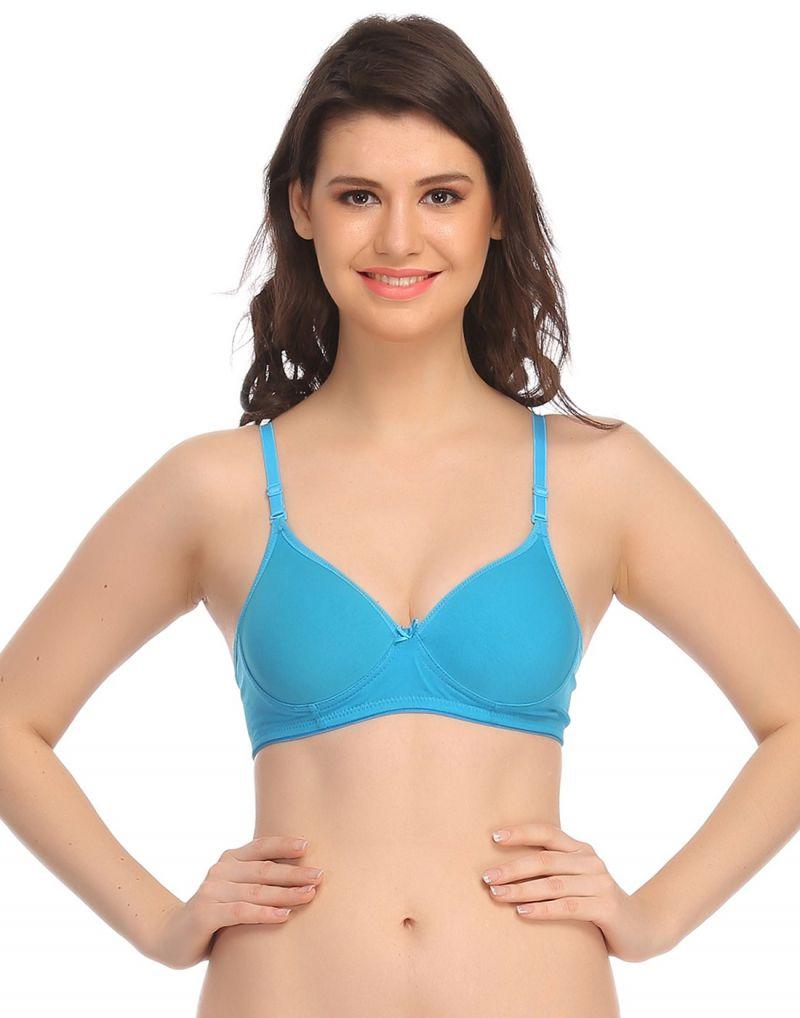 Buy Clovia Padded Bra In Turquoise Br0407p03 online