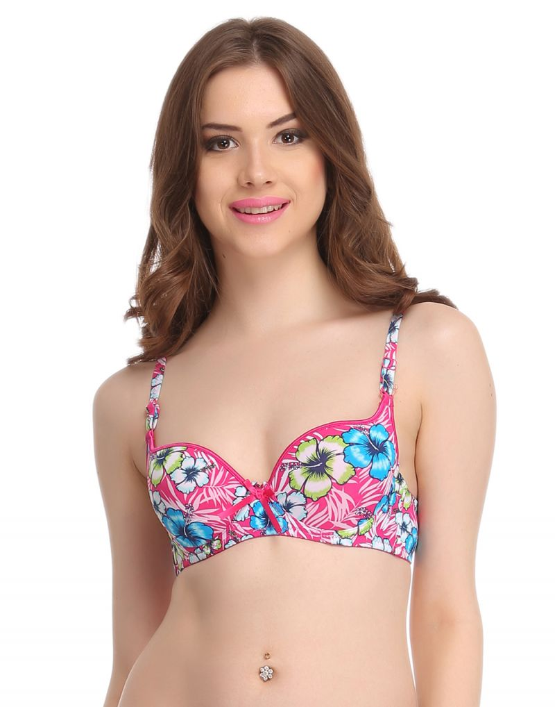 Buy Clovia Push Up Bra In Light Pink With Detachable Straps - (product Code - Br0593p14) online