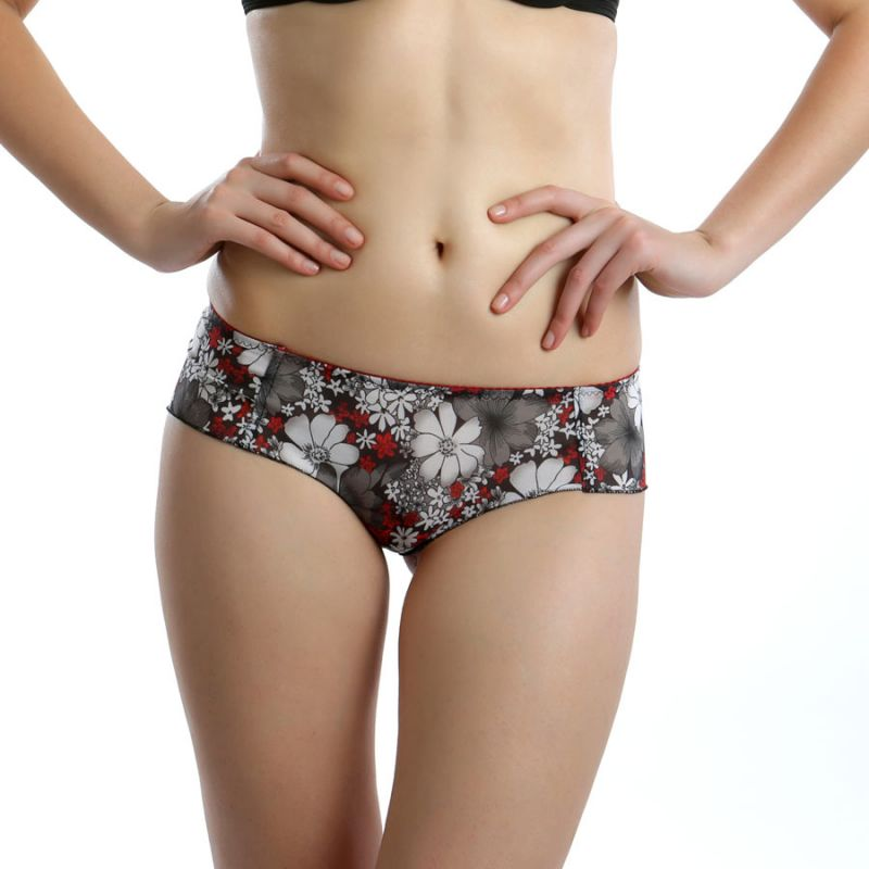 Buy Cloe Set Of 2- Printed Stretch Briefs In Black And Red Pn0136q59 online