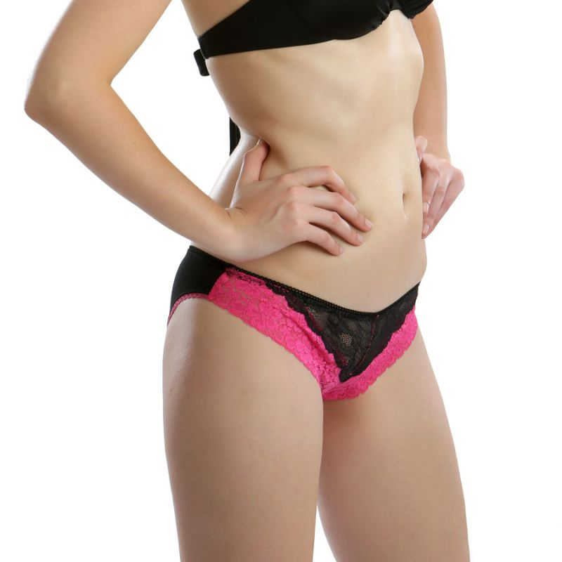 Buy Cloe Set Of 2- Ooh Lala Lace Brief In Pink And Blue Pn0141q59 online