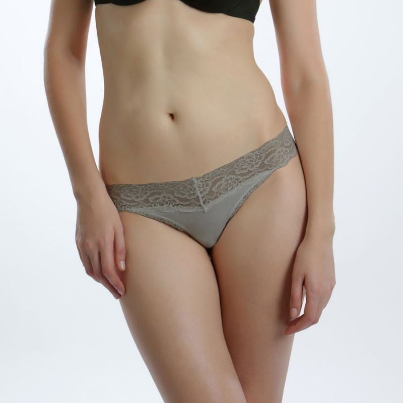 Buy Cloe Set Of 2 Cotton And Lace Thongs online