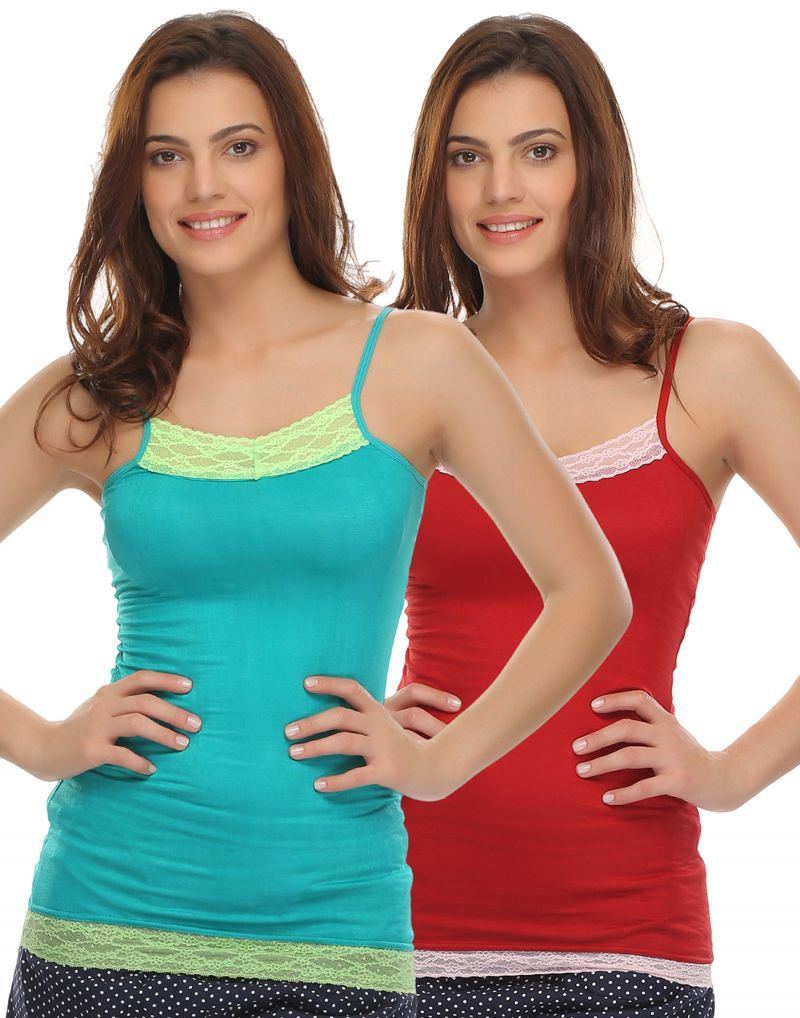 Buy Clovia Pack Of 2 Camisoles-(product Code- Combocm04) online