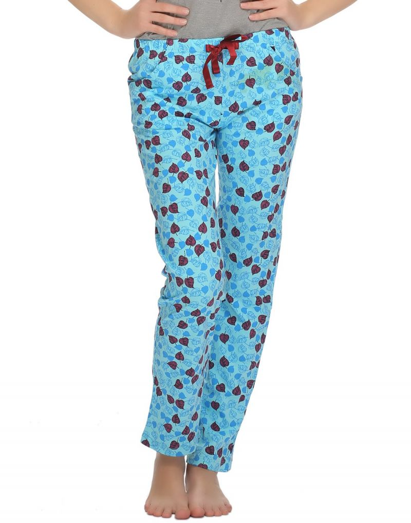 Buy Clovia Printed Comfy Pyjama In Blue Lb0020p21 online