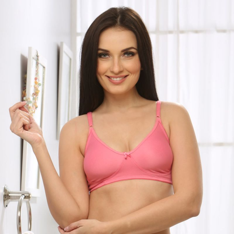 Buy Clovia Soft Cup T-shirt Bra In Baby Pink Br0184q62 online