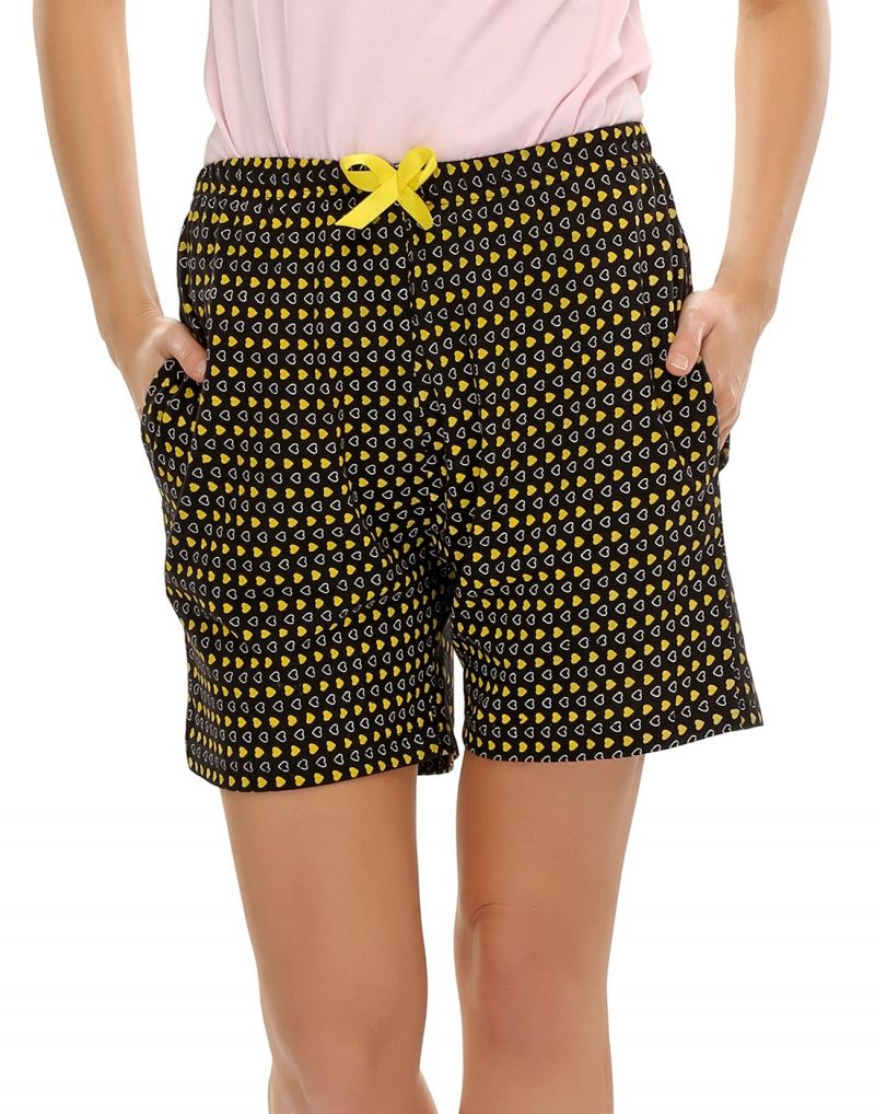 Buy Clovia Sweetheart Printed Cotton Shorts online