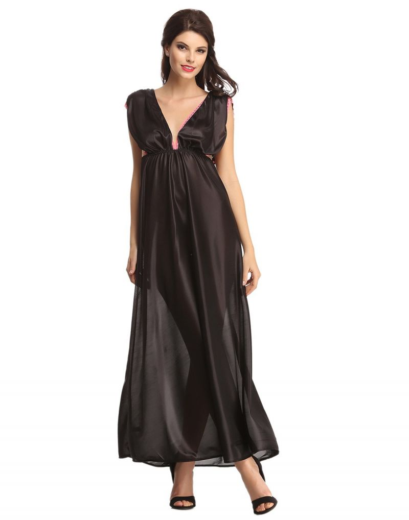 Buy Clovia String Back Sexy Long Nightdress online