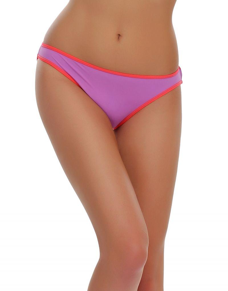 Buy Clovia Bikini In Purple With Neon Pink Trims Pn0346h12 online