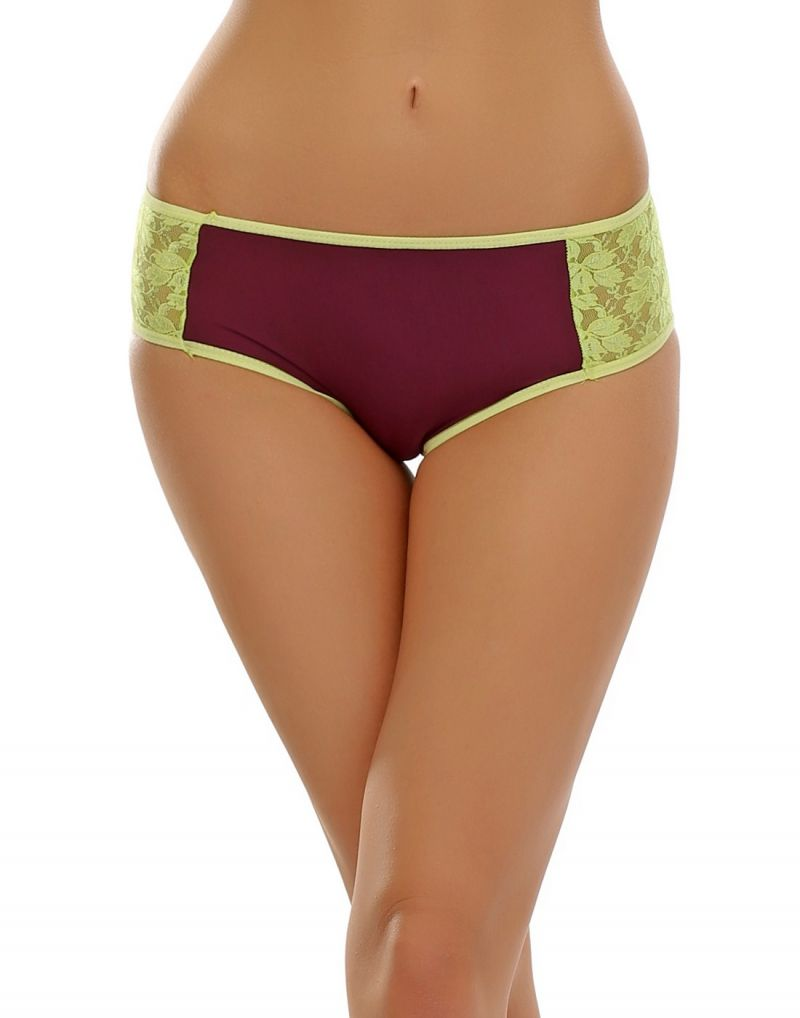 Buy Clovia Lace Hipster In Grape Wine online
