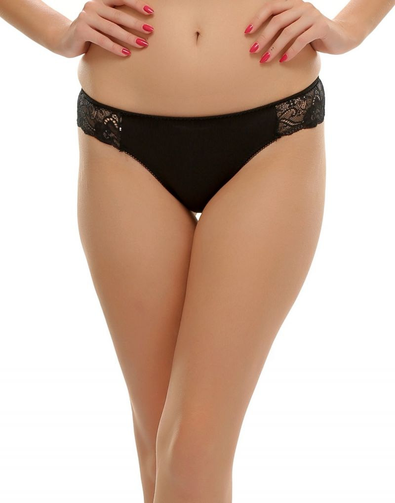 Buy Clovia Fashion Thong In Black Pn0380p13 online