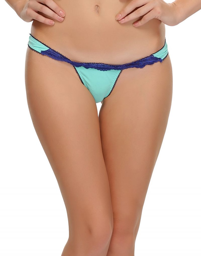 Buy Clovia Polyamide, Lace Sexy Thongs With Designer Laces online