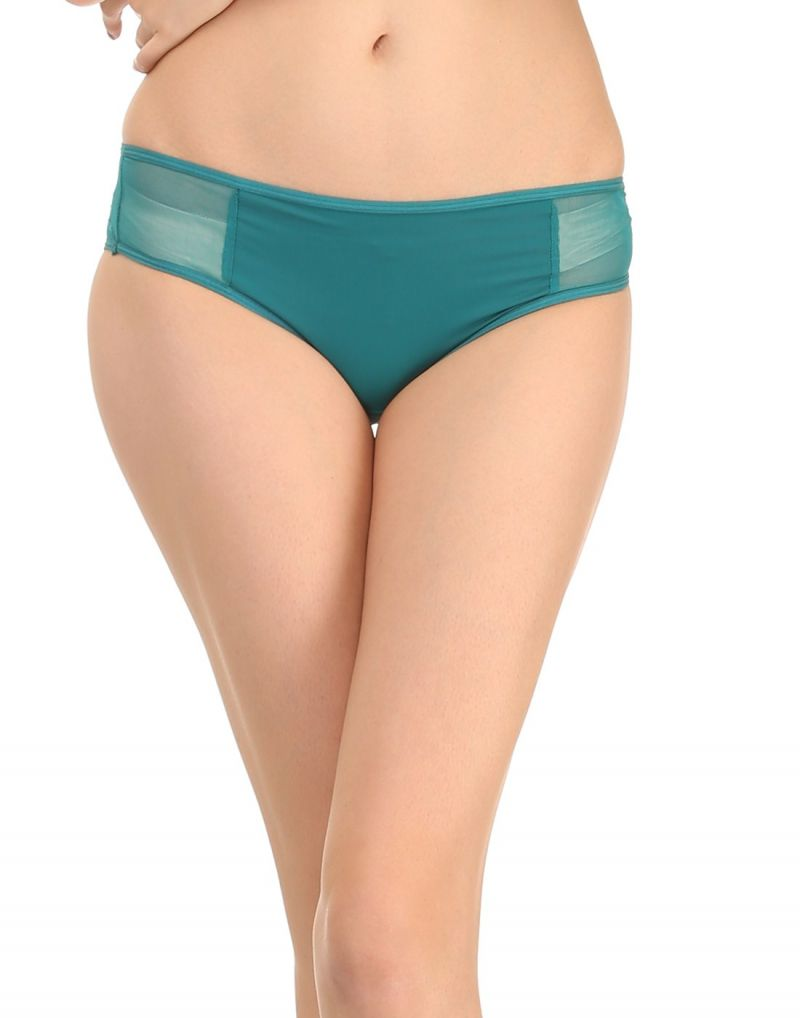 Buy Clovia Teal Green Bikini With Powernet At Sides Pn0436p17 online