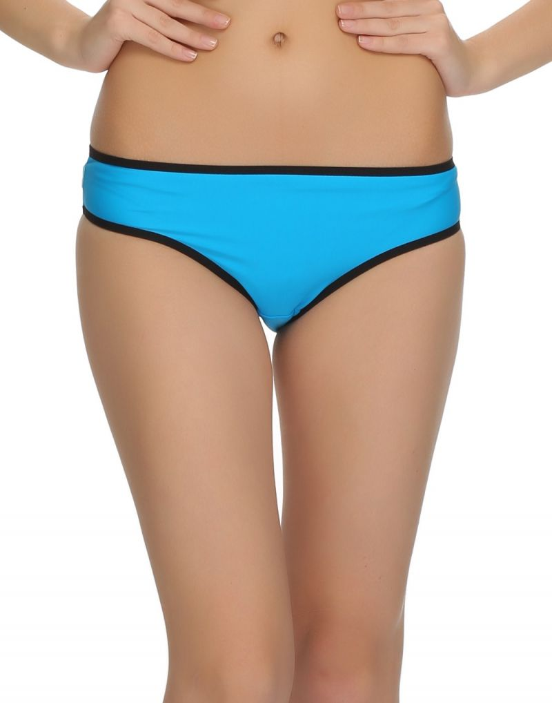 Buy Clovia Blue Trendy Brief With Sheer Back online
