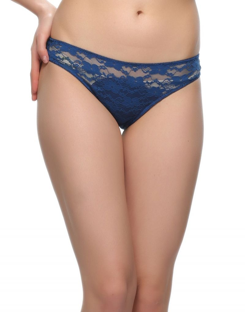 Buy Clovia Light Blue Lace Bikini Pn0486p08 online