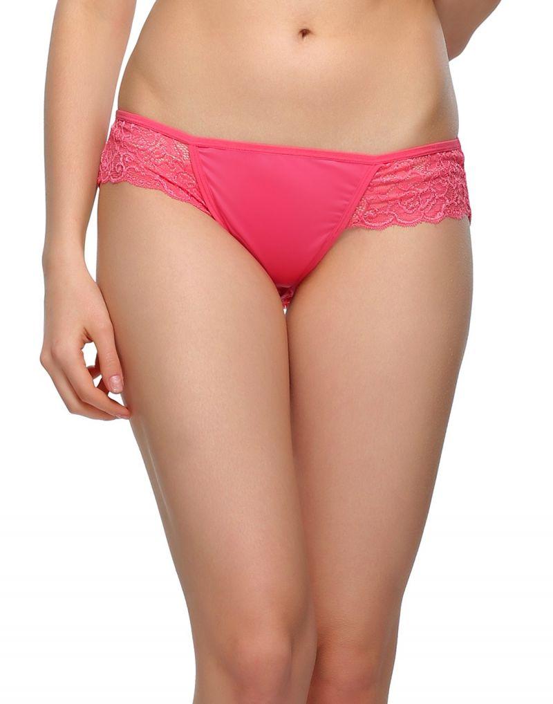 Buy Clovia Pink Rose Lacy Bikini Pn0499p22 online