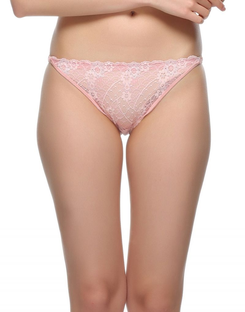 Buy Clovia Lace Bikini In Light Pink Pn0502p22 online