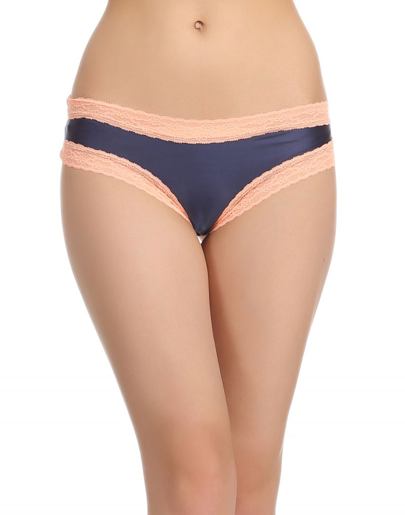 Buy Clovia Side Laced Polyamide Brief In Dark Blue online