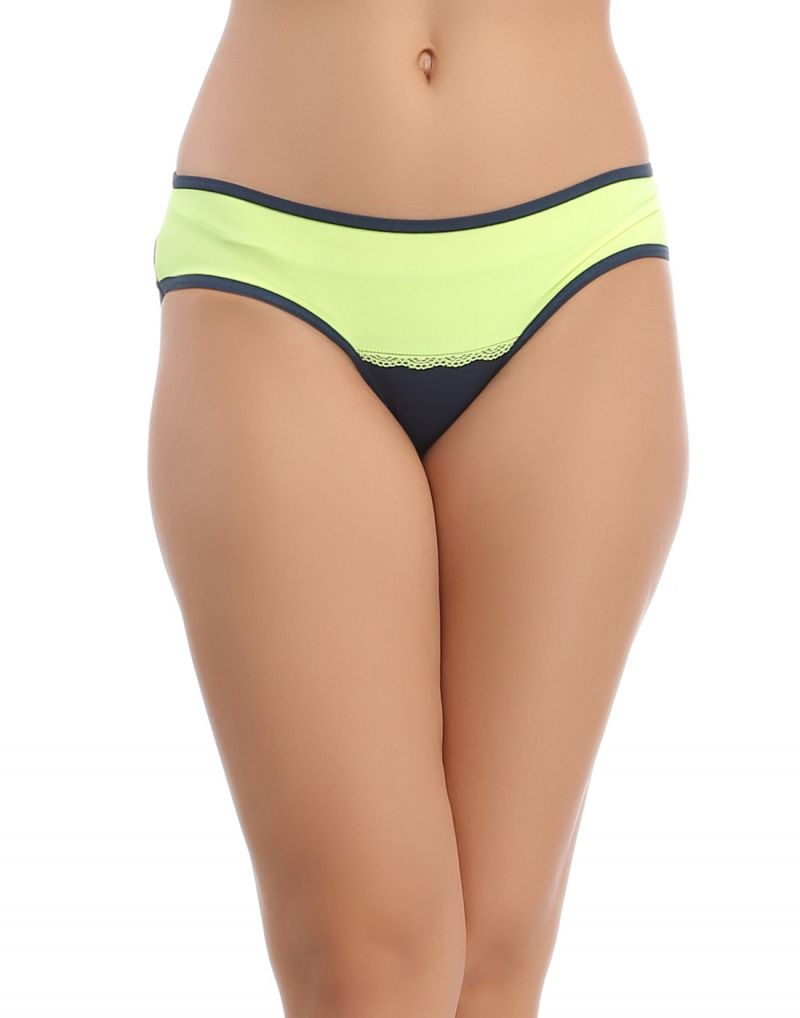 Buy Clovia Blue Bikini With Contrast Front -(product Code-pn0601p08) online