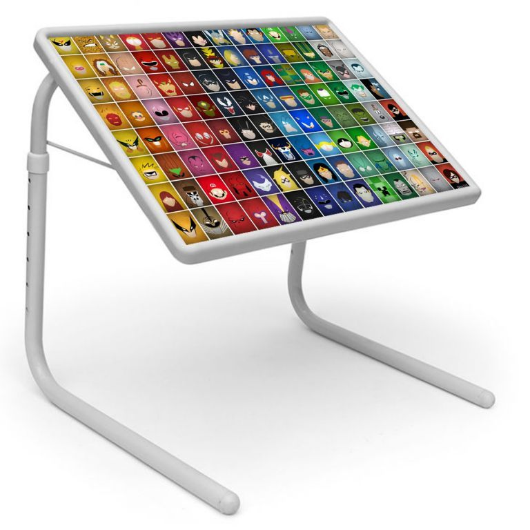 Buy Illusion Table Designer Portable Adjustable Dinner Cum Laptop Tray Table online