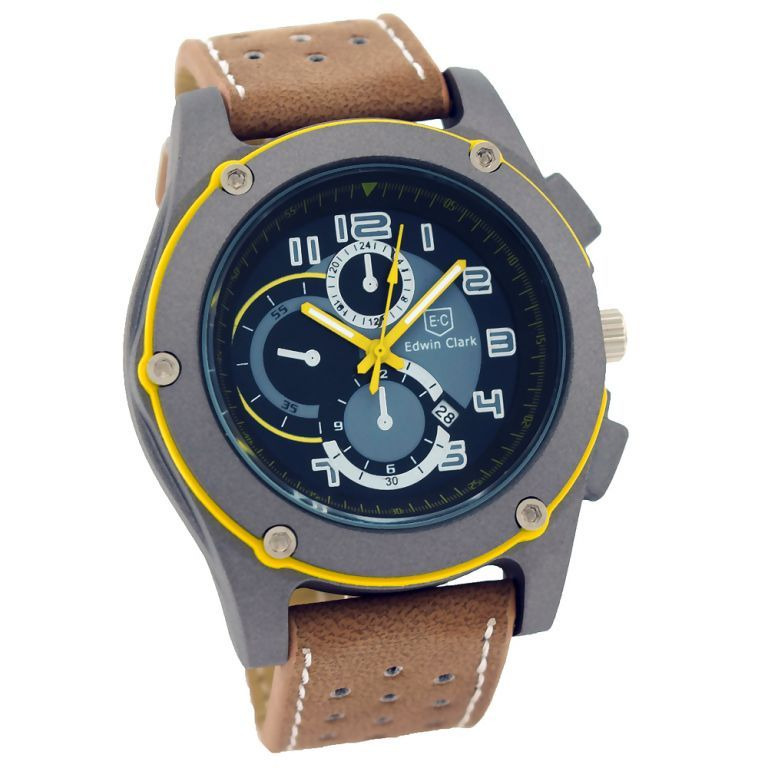 Buy Edwin Clark Analog Chronograph Watch For Men With Date Display - Mw-063 online