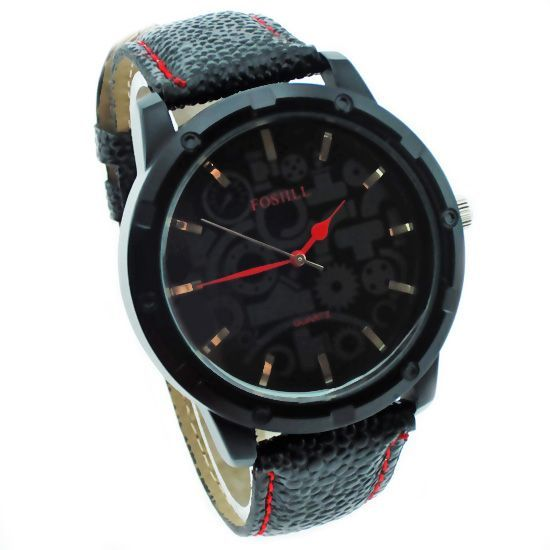 Buy Designer Mens Stylish Leather Belt Wrist Watch online