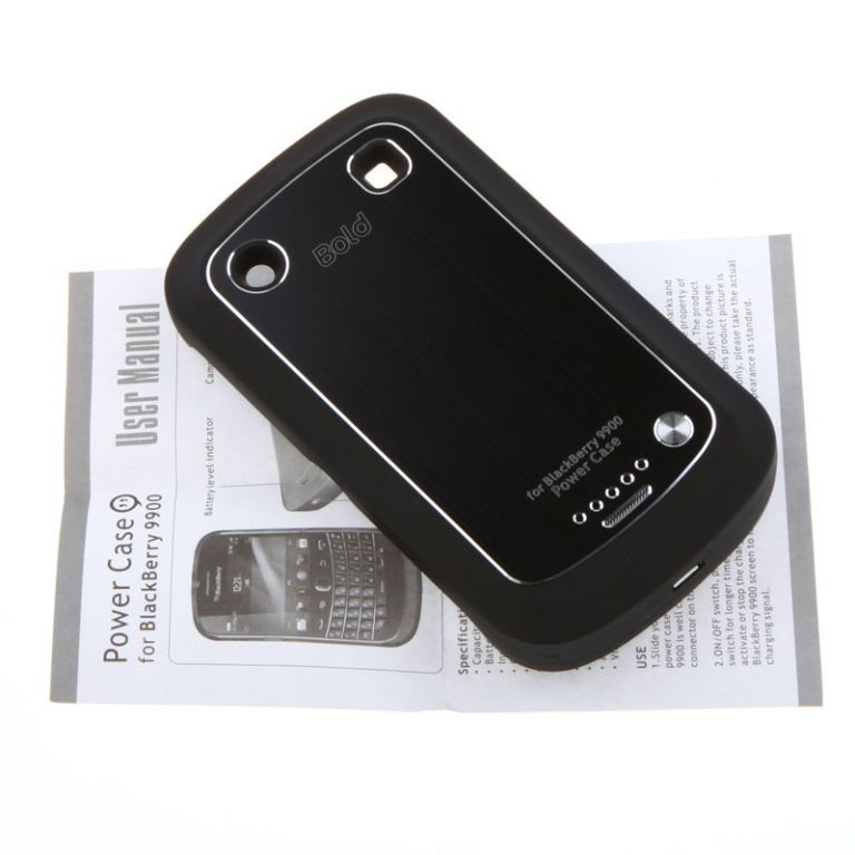 Buy Black Blackberry 9900 2000mah External Backup Battery Charger Case online