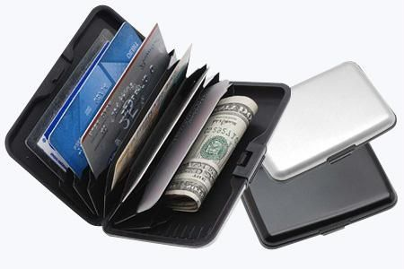 Buy 6 PCs Data Secure Aluminum Indestructible Wallet Aluma Silver online