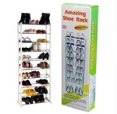 Buy Amazing Shoe Rack Holds Upto 30 Pairs Portable And Easy To Assemble 10 Rack online