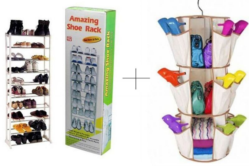 Buy 10 Layer Portable Amazing Shoe Rack With Smart Carousel Organiser online