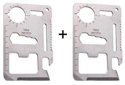 Buy Buy 1 Get 1 Free 11 In 1 Stainless Steel Survival Tool Kit Pocket online