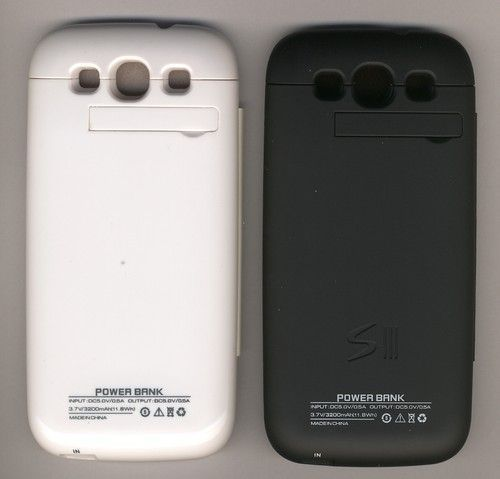 Buy White 2000mah External Backup Battery For Samsung Galaxys3 With Flip Cover online