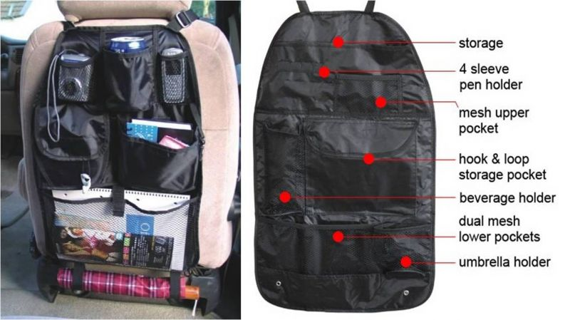Buy Autofurnish 3d Car Auto Seat Back Multi Pocket Storage Bag Organizer Holder Hanger Accessory online